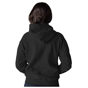 Unisex Marshmellow 100 % Cotton Printed Hoodies In Black Color