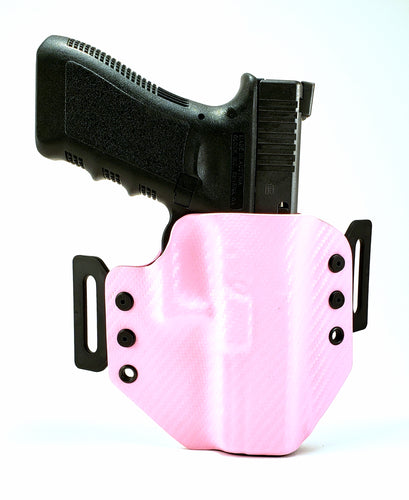 Sure-Fit O.W.B. Holster Pink Carbon (LEFT HAND) Gun Models A-R