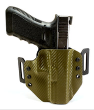Load image into Gallery viewer, Sure-Fit O.W.B. Holster OD Green Carbon (LEFT HAND) Gun Models A-R