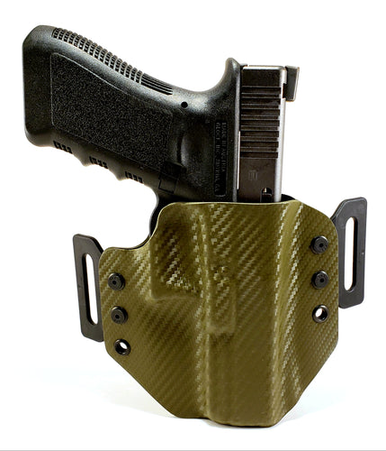 Sure-Fit O.W.B. Holster OD Green Carbon (LEFT HAND) Gun Models A-R