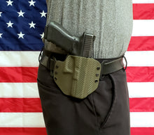 Load image into Gallery viewer, Sure-Fit O.W.B. Holster OD Green Carbon (LEFT HAND) Gun Models S-W