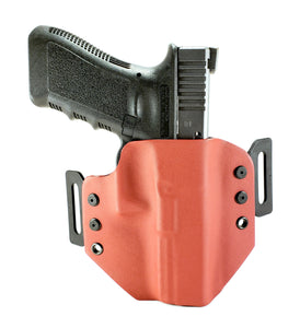 Sure-Fit O.W.B. Holster Red (LEFT HAND) Gun Models A-R