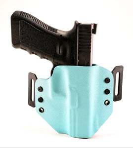 Sure-Fit O.W.B. Holster Light Blue (RIGHT HAND) Gun Models A-R