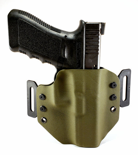 Sure-Fit O.W.B. Holster OD Green (LEFT HAND) Gun Models A-R