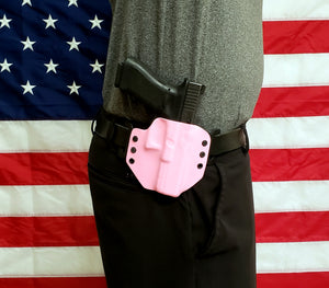 Sure-Fit O.W.B. Holster Pink Carbon (RIGHT HAND) Gun Models A-R