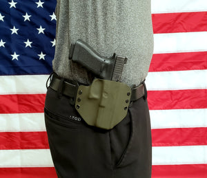 Sure-Fit O.W.B. Holster OD GREEN (LEFT HAND) Gun Models S-W