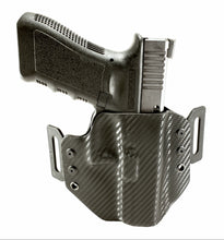 Load image into Gallery viewer, Sure-Fit O.W.B. Holster Black Carbon (RIGHT HAND) Gun Models A-R