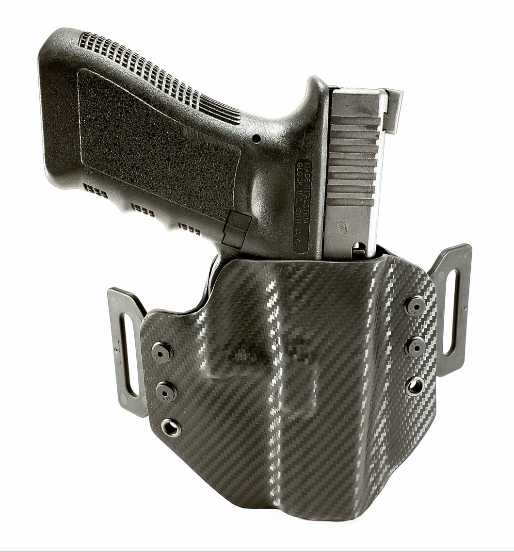 Sure-Fit O.W.B. Holster Black Carbon (RIGHT HAND) Gun Models A-R