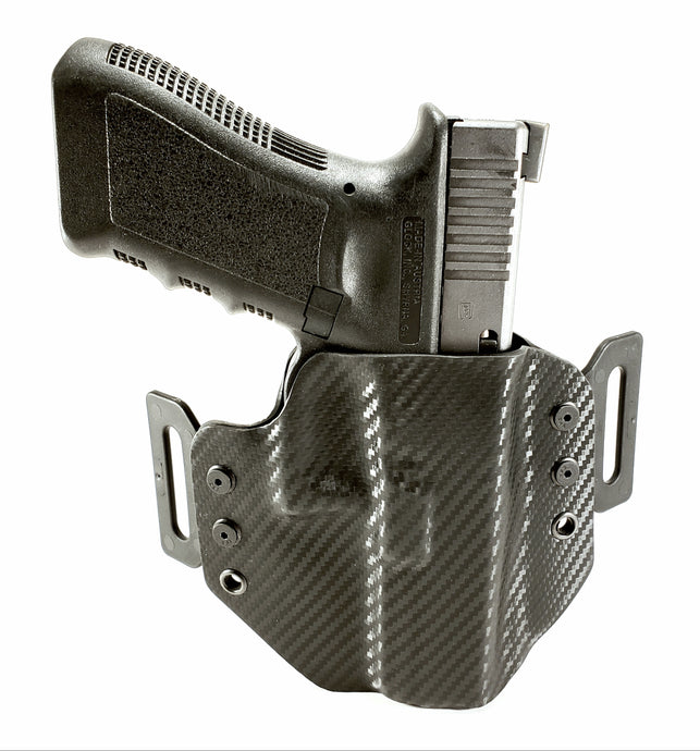 Sure-Fit O.W.B. Holster Black Carbon (RIGHT HAND) Gun Models S-W