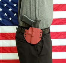 Load image into Gallery viewer, Sure-Fit O.W.B. Holster Red (LEFT HAND) Gun Models A-R