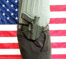 Load image into Gallery viewer, Sure-Fit O.W.B. Holster Black Carbon (RIGHT HAND) Gun Models S-W