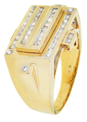 Herren Diamond Pinky Ring | 0,64 Karat | 10,38 Gramm