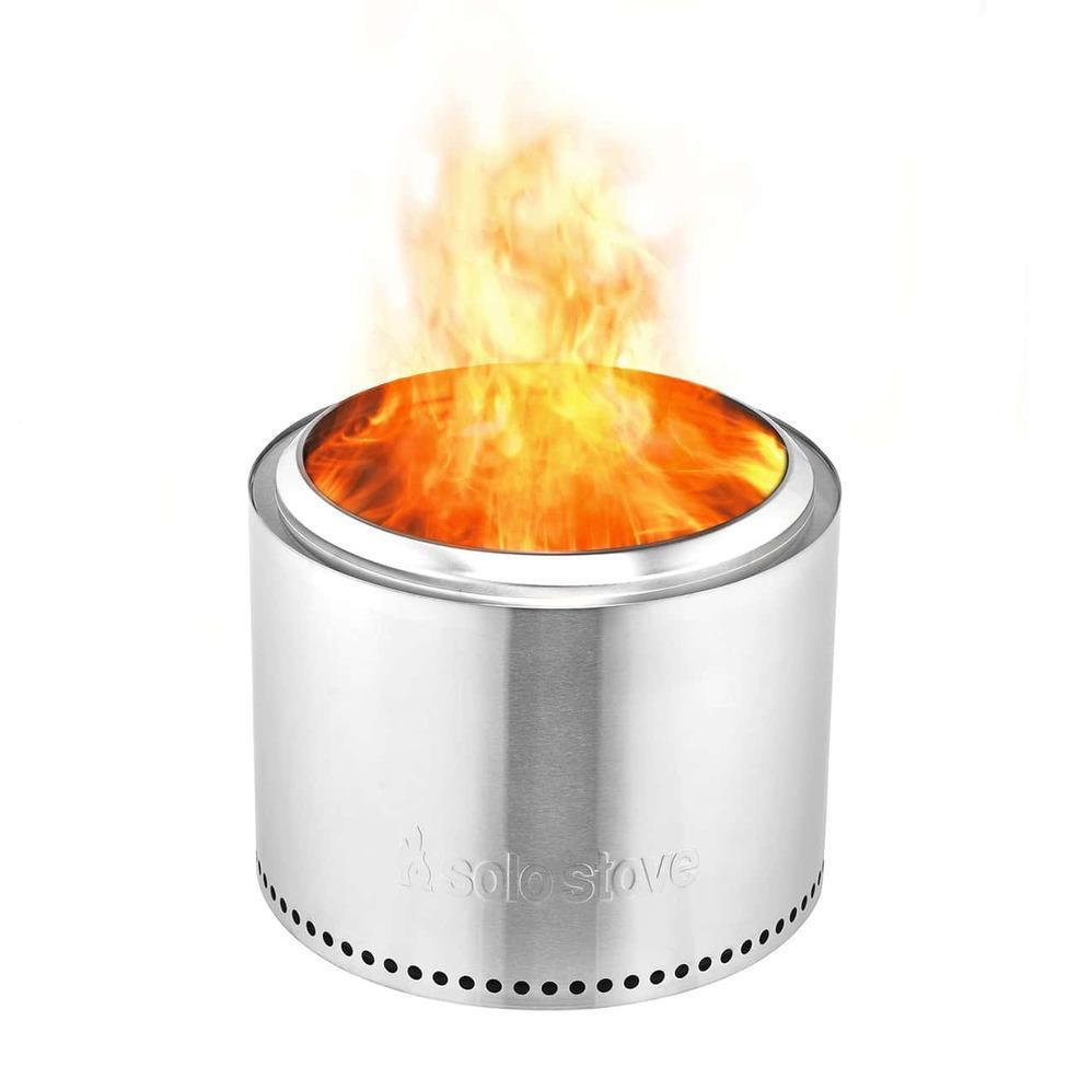 Solo Stove Ranger 15-Inch Round Wood Burning Fire Pit - Stainless Steel