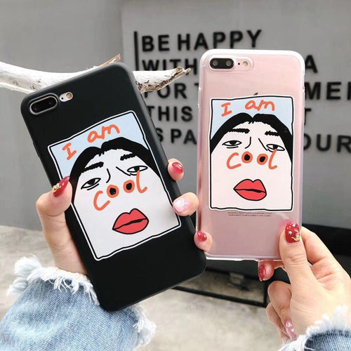 Funny nose transparent soft shell phone case