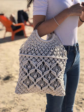 Load image into Gallery viewer, Emma Blanc - Sac crochet ance bois