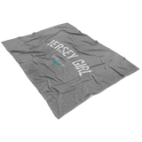 Jersey Girl Fleece Blanket - Grey - Shores of NJ LLC