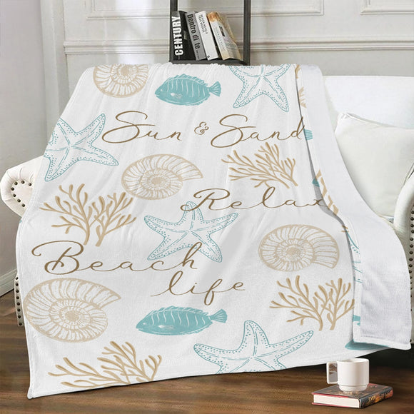 Luxury Fleece Blanket - Seaside