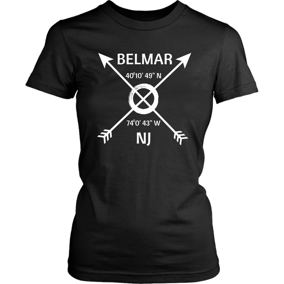Belmar NJ Coordinates T-Shirt - Shores of NJ LLC
