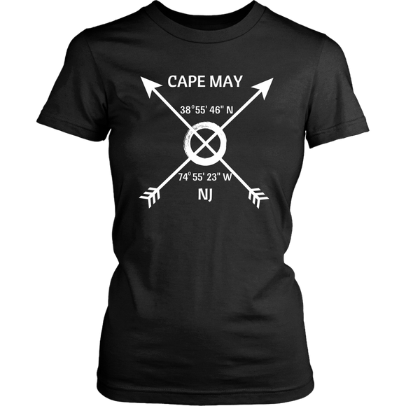 Cape May NJ Coordinates T-Shirt - Shores of NJ LLC