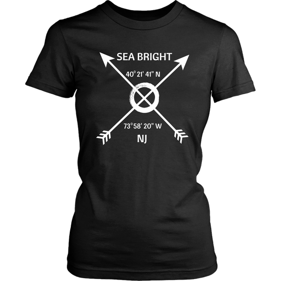 Sea Bright NJ Coordinates T-Shirt - Shores of NJ LLC