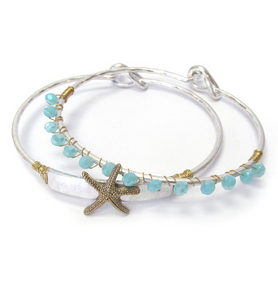 Starfish Bangle Bracelet Set - Shores of NJ LLC