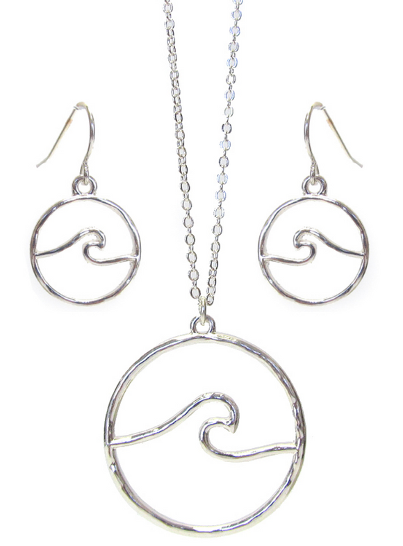 Wave Necklace and Earring Set - Shores of NJ LLC