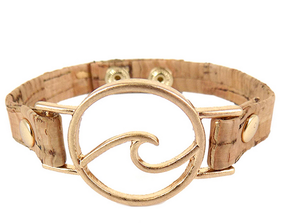 Gold Wave Cork Bracelet - Shores of NJ LLC