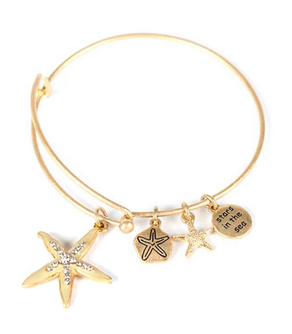 Starfish Bangle Bracelet - Shores of NJ LLC