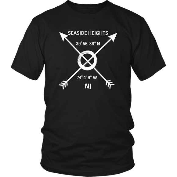 Seaside Heights NJ Coordinates T-Shirt - Shores of NJ LLC