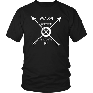 Avalon, NJ Coordinates T-Shirt - Shores of NJ LLC
