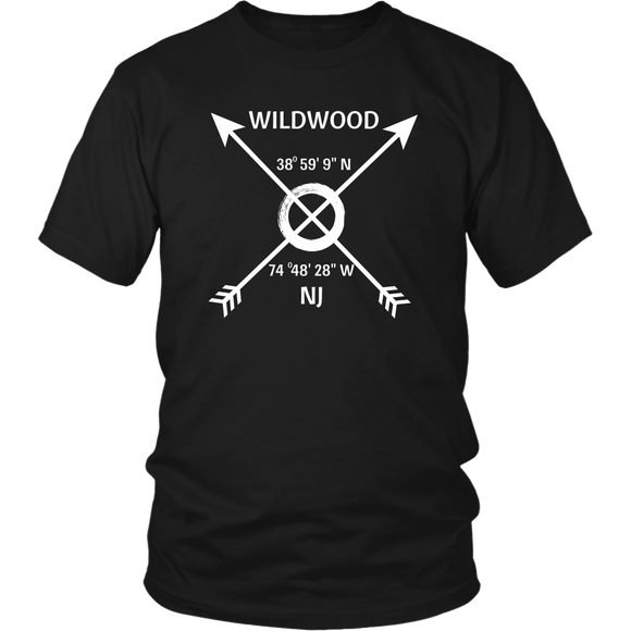 Wildwood, NJ Coordinates T-Shirt - Shores of NJ LLC
