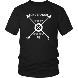 Long Branch NJ Coordinates T-Shirt - Shores of NJ LLC