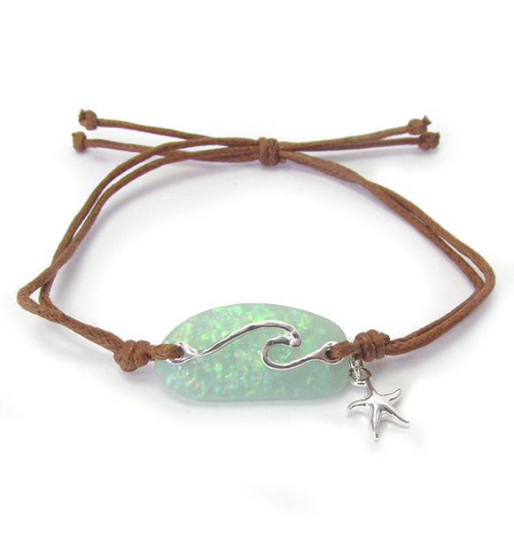 Wave Sea Glass Bracelet - Shores of NJ LLC