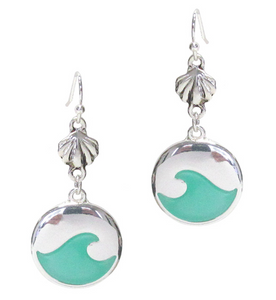 Wave/Seashell Earrings - Shores of NJ LLC
