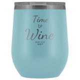 Time To Wine Tumbler - Shores of NJ LLC