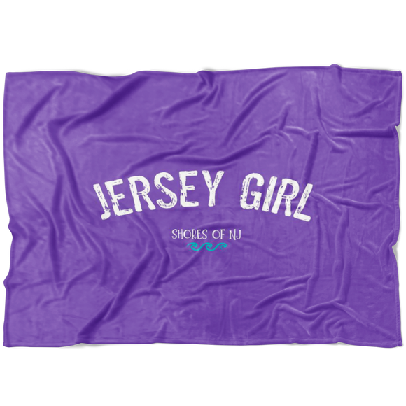 Jersey Girl Fleece Blanket - Purple - Shores of NJ LLC