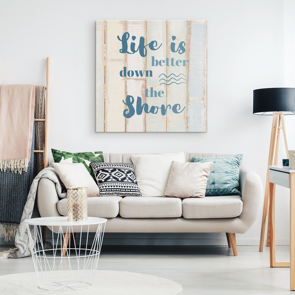 Life is Better Down The Shore Wall Canvas - Shores of NJ LLC