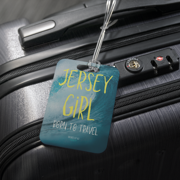Jersey Girl Born To Travel Luggage Tag - Shores of NJ LLC