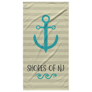 Shores of NJ Towel - Beige - Shores of NJ LLC
