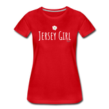 Jersey Girl Flower T-Shirt - red