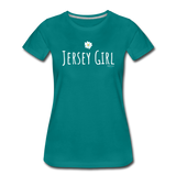 Jersey Girl Flower T-Shirt - teal