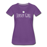 Jersey Girl Flower T-Shirt - purple