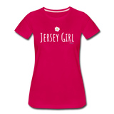 Jersey Girl Flower T-Shirt - dark pink