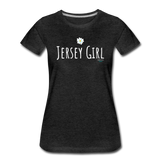 Jersey Girl Flower T-Shirt - charcoal gray