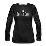 Jersey Girl Flower Long Sleeve T-Shirt - charcoal gray