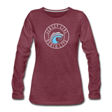 Jersey Girl Beach Life Long Sleeve T-Shirt - heather burgundy
