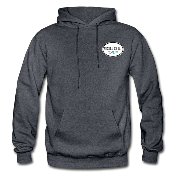 Shores of NJ Hoodie - charcoal gray