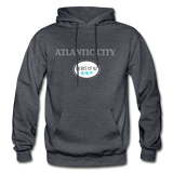 Atlantic City Shores of NJ Hoodie - charcoal gray