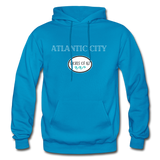 Atlantic City Shores of NJ Hoodie - turquoise