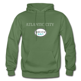 Atlantic City Shores of NJ Hoodie - military green